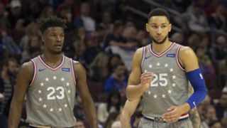 Jimmy Butler (left) and Ben Simmons