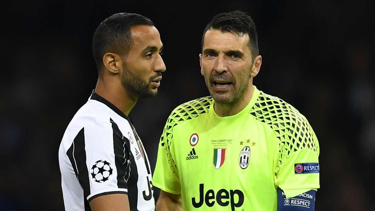 Medhi Benatia and Gianluigi Buffon - cropped