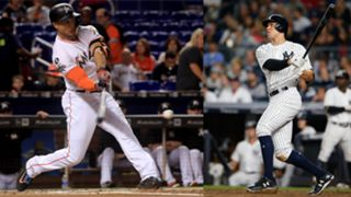 Giancarlo Stanton (left) and Aaron Judge (right)