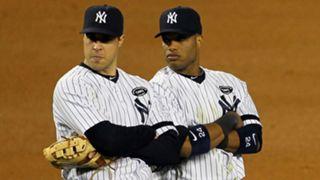 Mark Teixeira (left) and Robinson Cano