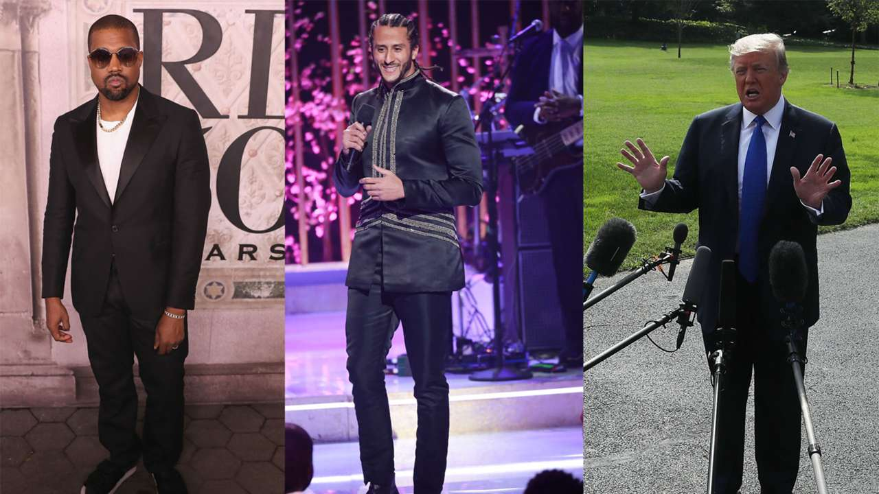 Kanye West, Colin Kaepernick and Donald Trump
