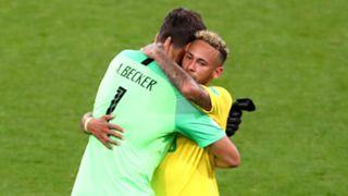 Brazil's Alisson and Neymar