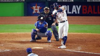 Carlos Correa hits his home run in Game 5