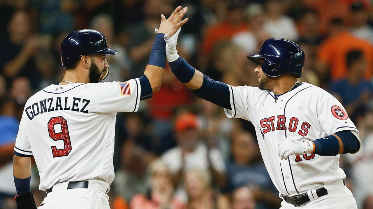 Yulieski Gurriel (right) and Marwin Gonzalez (left)