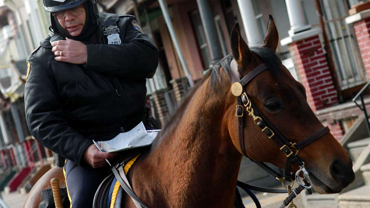 Mounted Philadelphia police officer