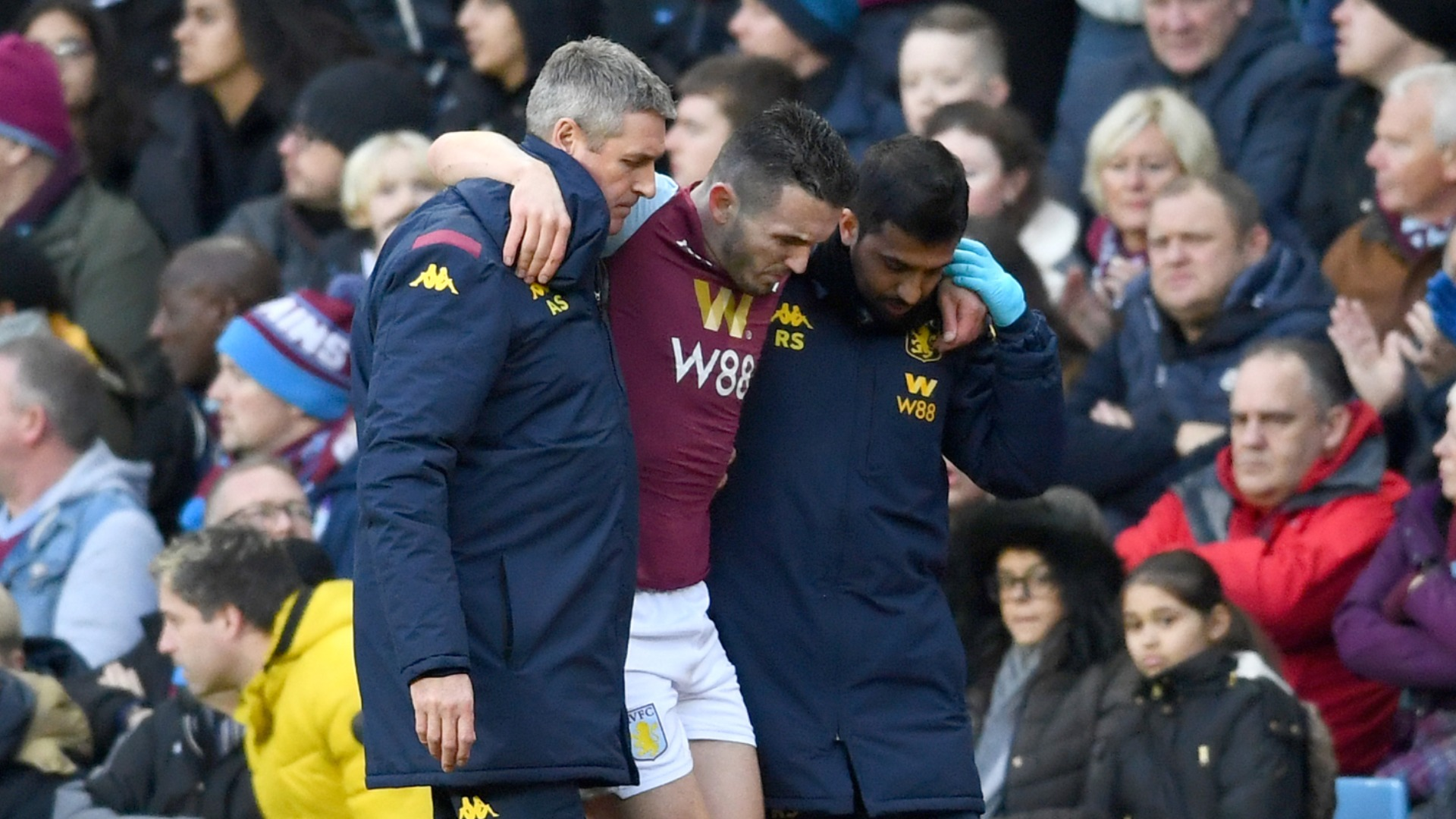 Injury blow for Villa as McGinn suffers ankle fracture