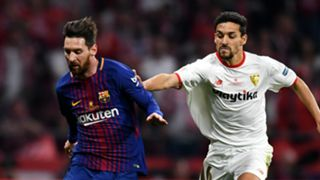 Lionel Messi and Jesus Navas - cropped