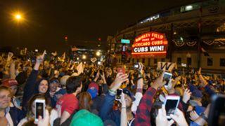 Cubs fans after Game 7