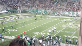 EMU kicks off from its opponent's 20-yard line