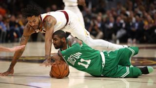 Kyrie Irving (right) and Derrick Rose (left)
