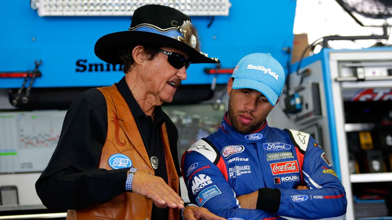 Richard Petty (left) and Bubba Wallace