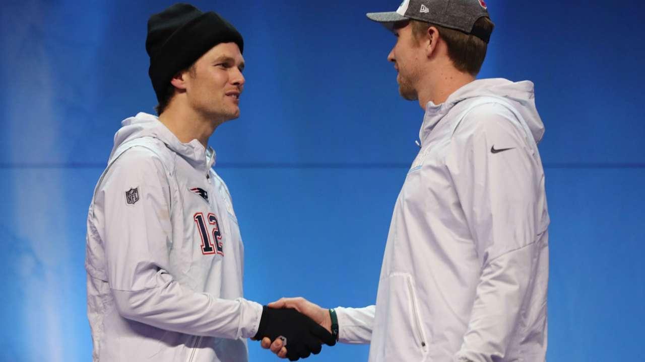 Tom Brady and Nick Foles