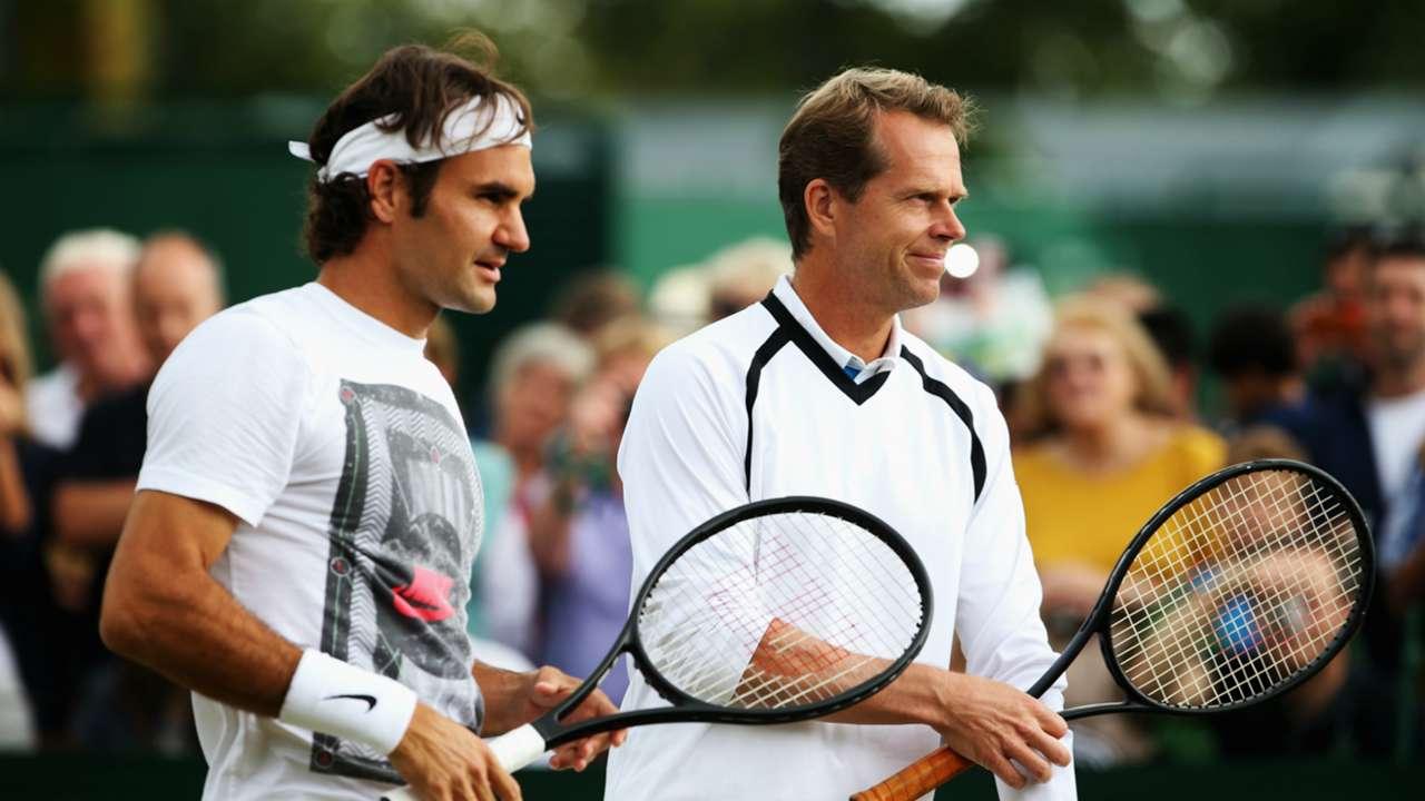 Roger Federer and Stefan Edberg - cropped