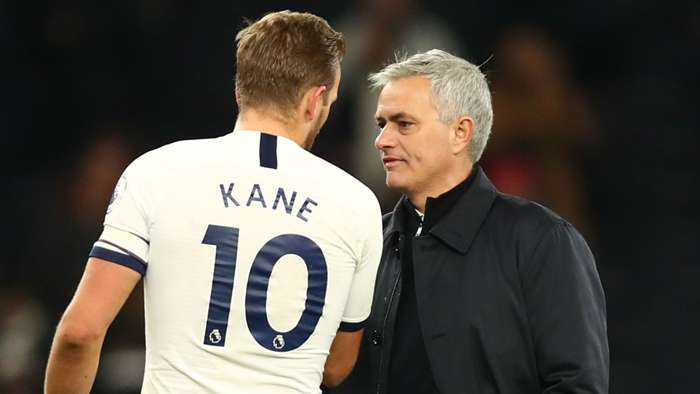 Harry Kane and Jose Mourinho - cropped