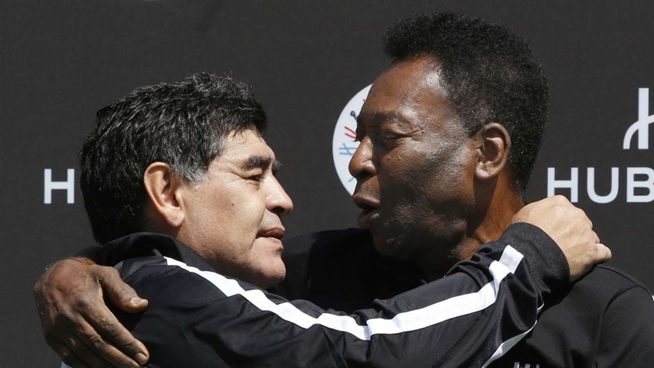 Diego Maradona and Pele - cropped