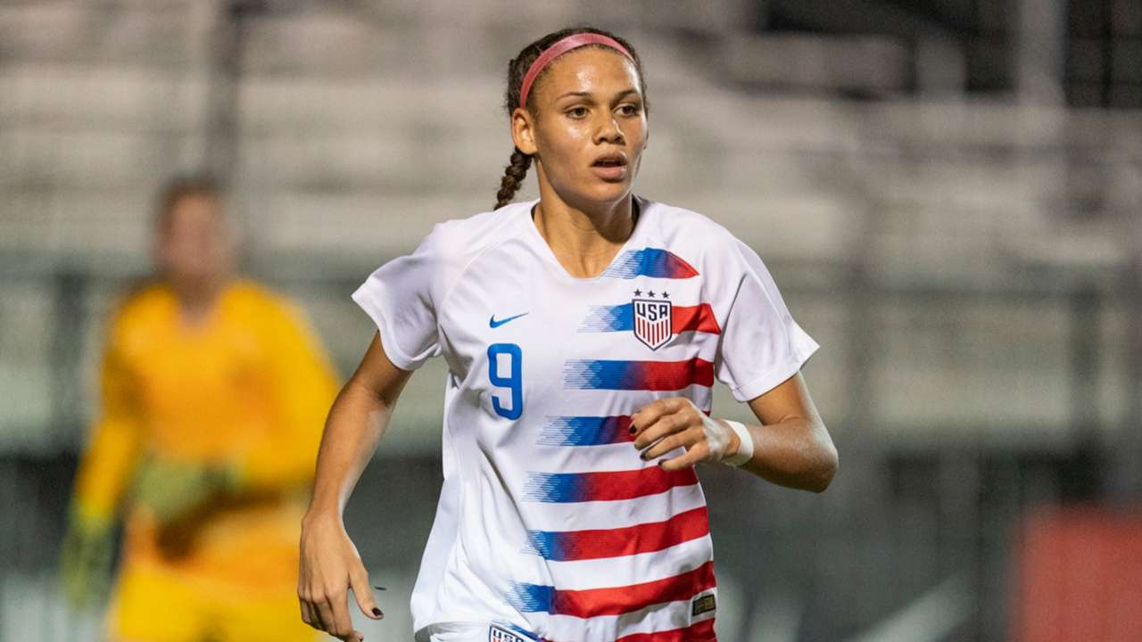 Trinity Rodman playing for the USWNT U20s