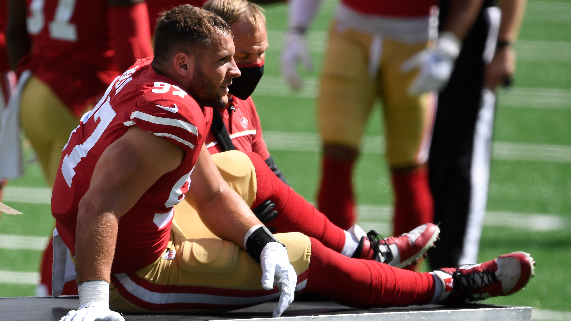 Nick Bosa injury update: 49ers confirm defensive end has torn ACL