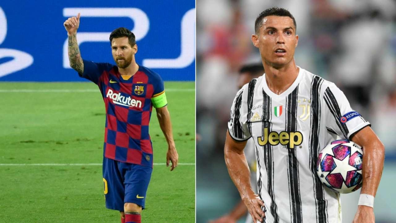 Lionel Messi Cristiano Ronaldo UEFA Champions League Rd of 16