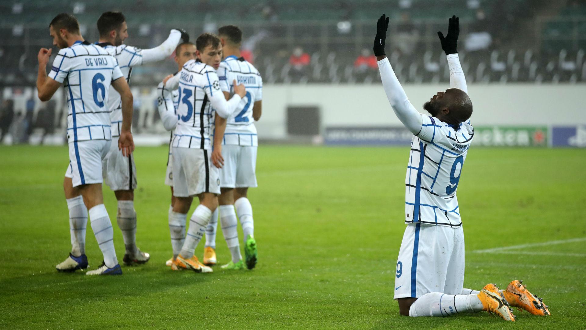 Borussia Monchengladbach 2-3 Inter: Romelu Lukaku double keeps Nerazzurri