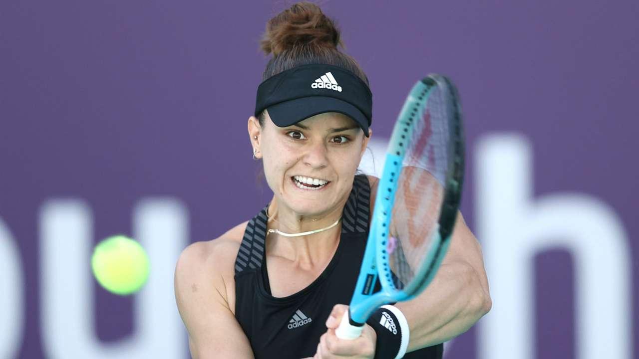 Maria Sakkari at the Abu Dhabi Women's Tennis Open