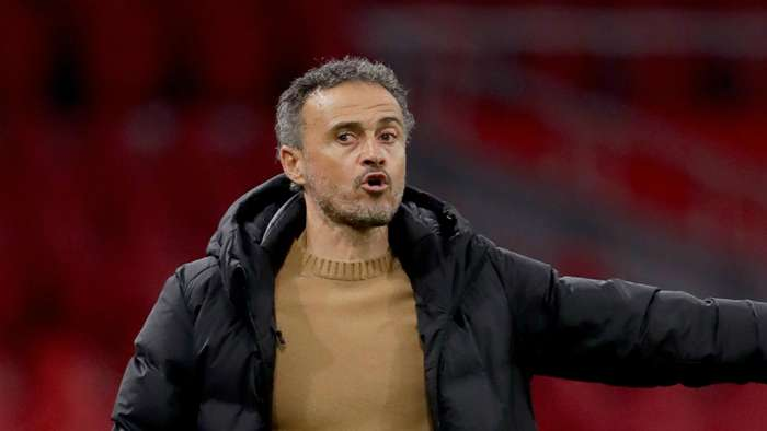 Spain head coach Luis Enrique