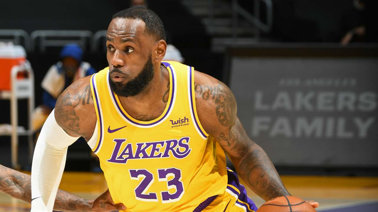 LeBron James of the LA Lakers