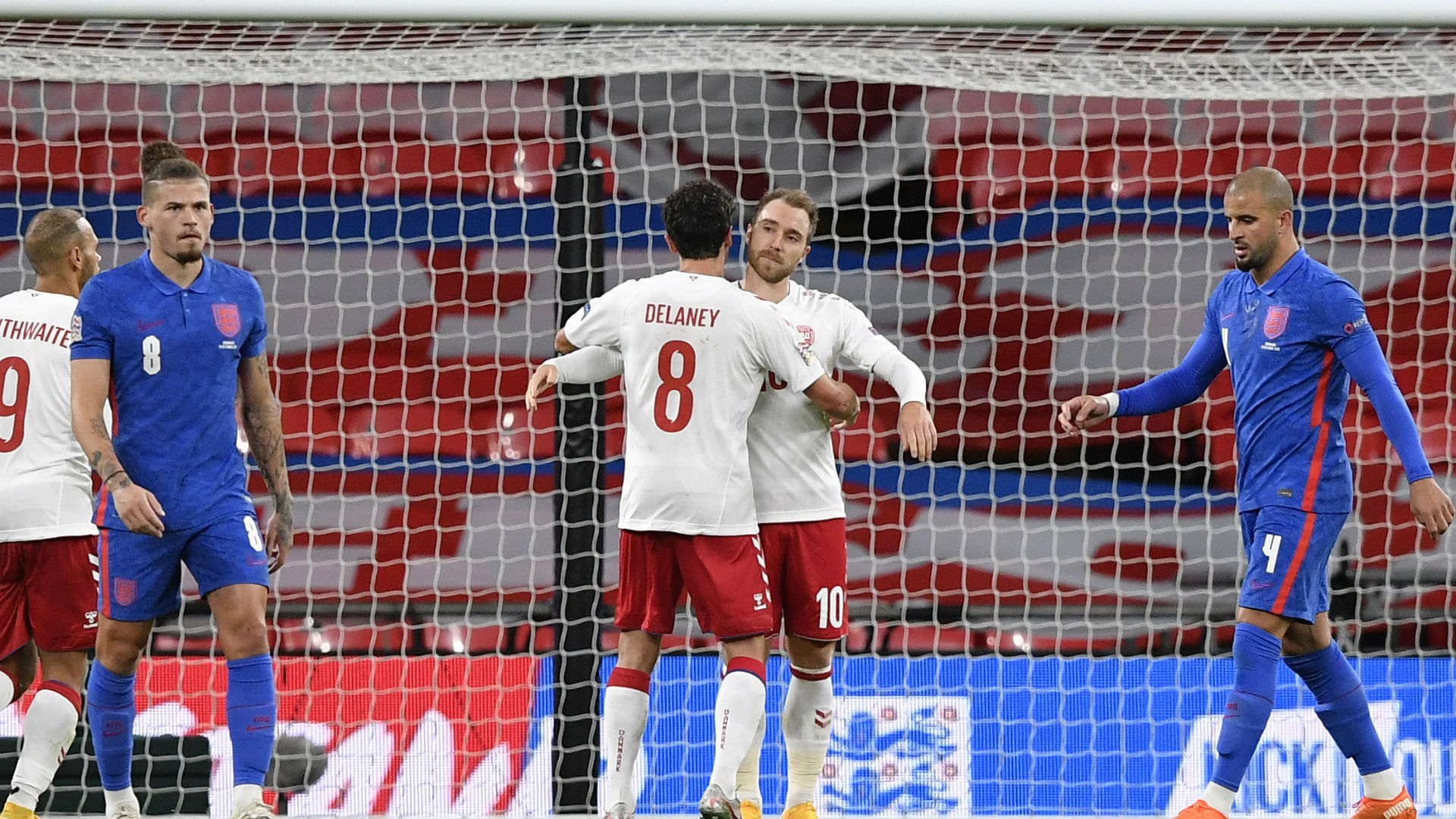 England 0-1 Denmark: Three Lions pay penalty after Maguire red