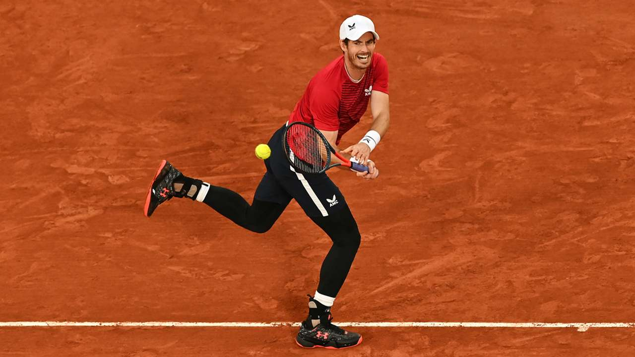 Andy Murray in action at the French Open