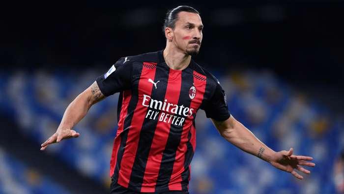 Zlatan Ibrahimovic Napoli v Milan Serie A 11222020