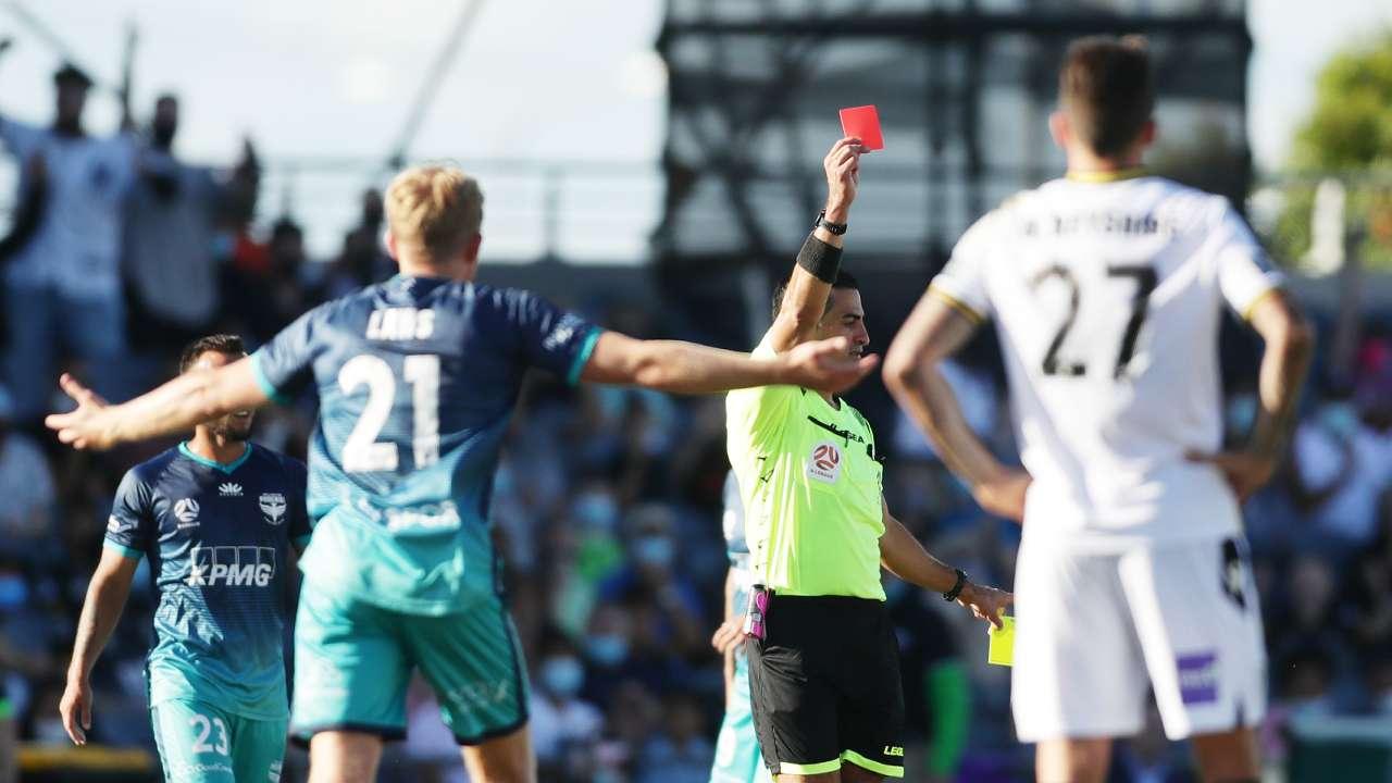 A-League red card 2021