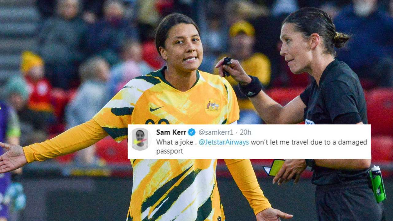 Sam Kerr passport