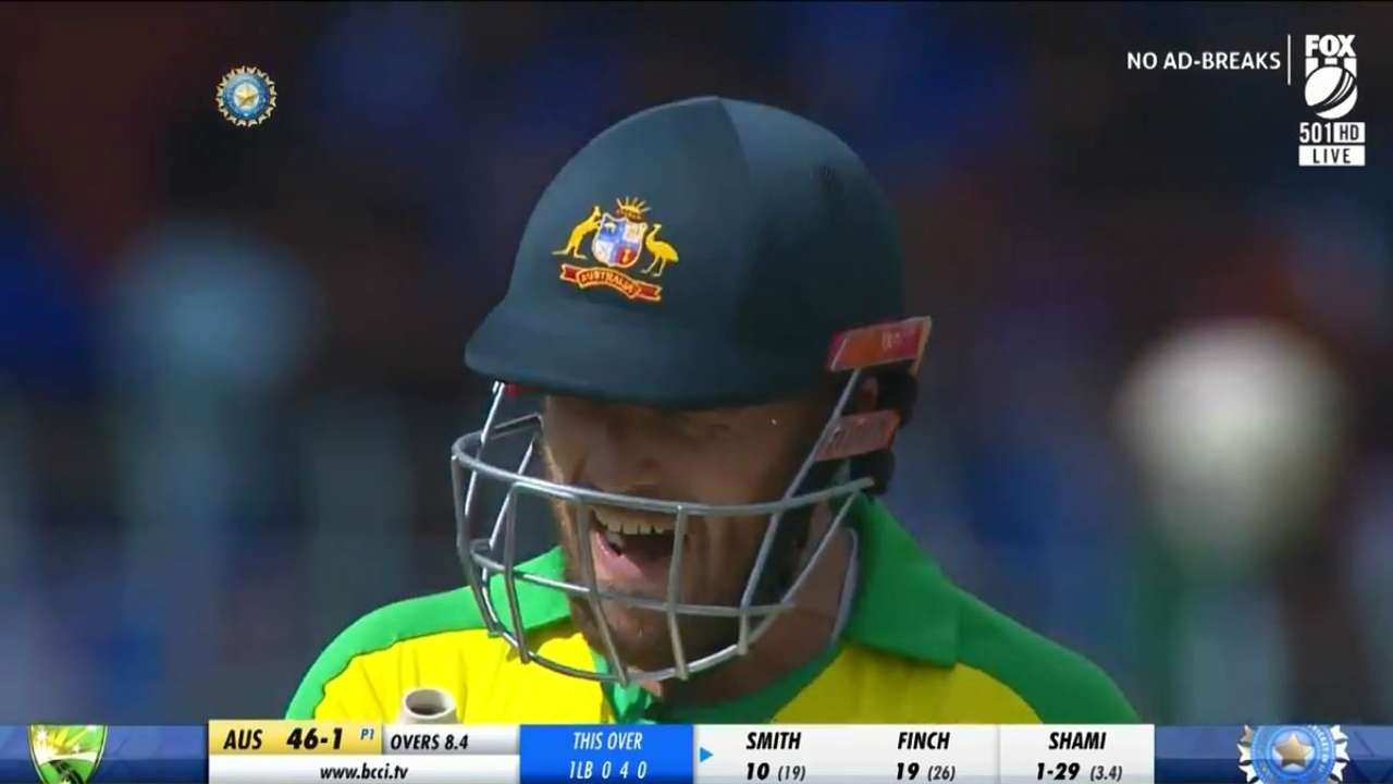 Aaron Finch run out