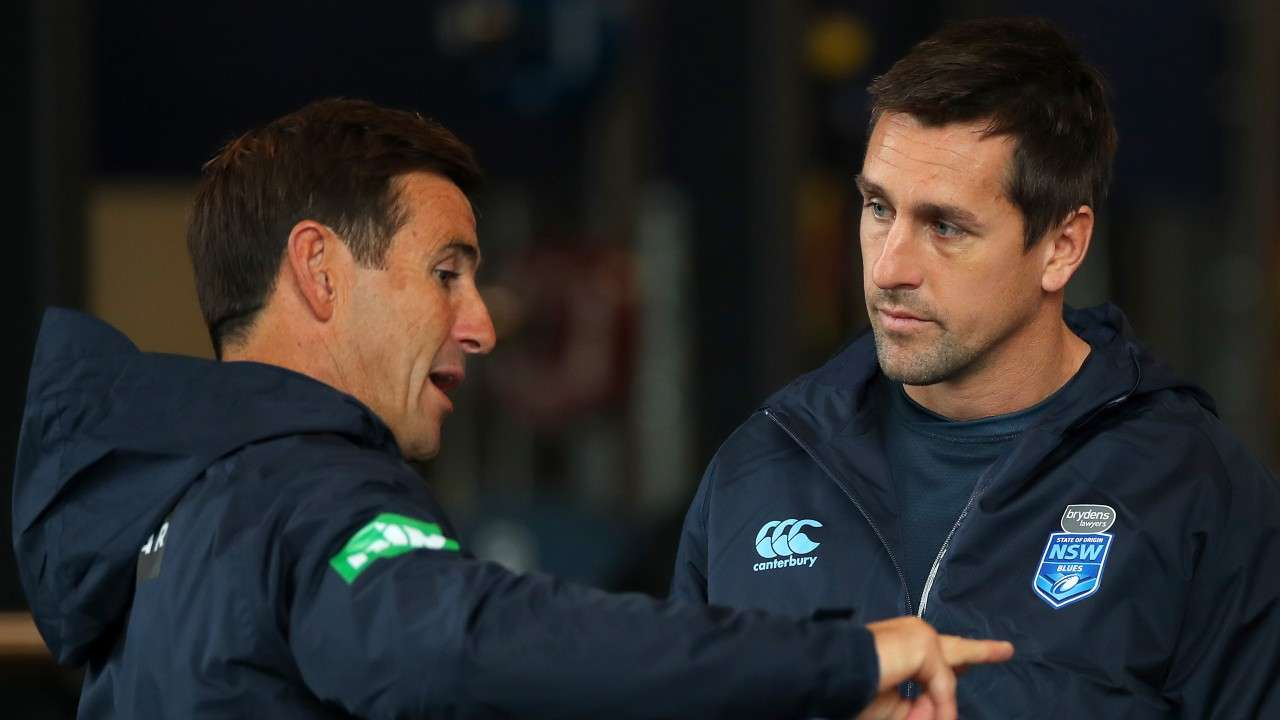 Mitchell Pearce and Andrew Johns