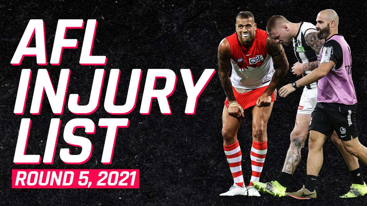AFL Injury List Round 5