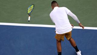 kyrgios racquet throw