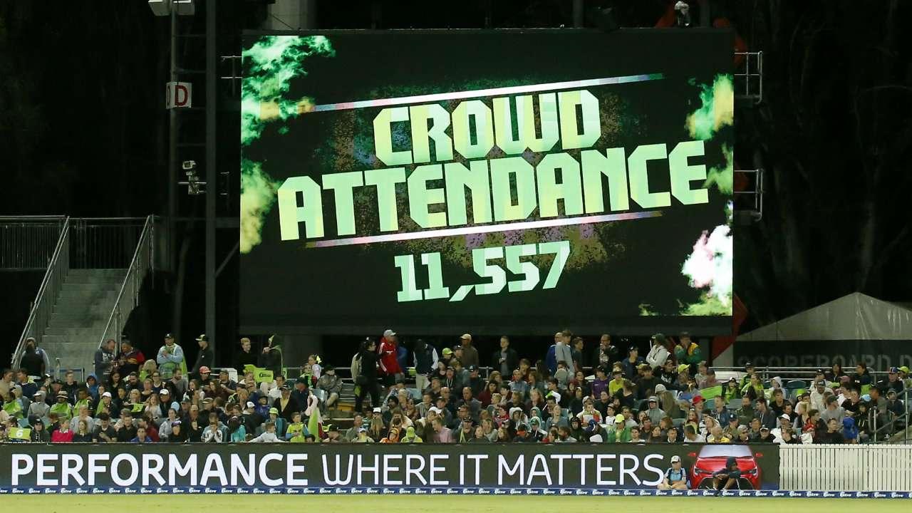 BBl crowd figure Manuka Oval