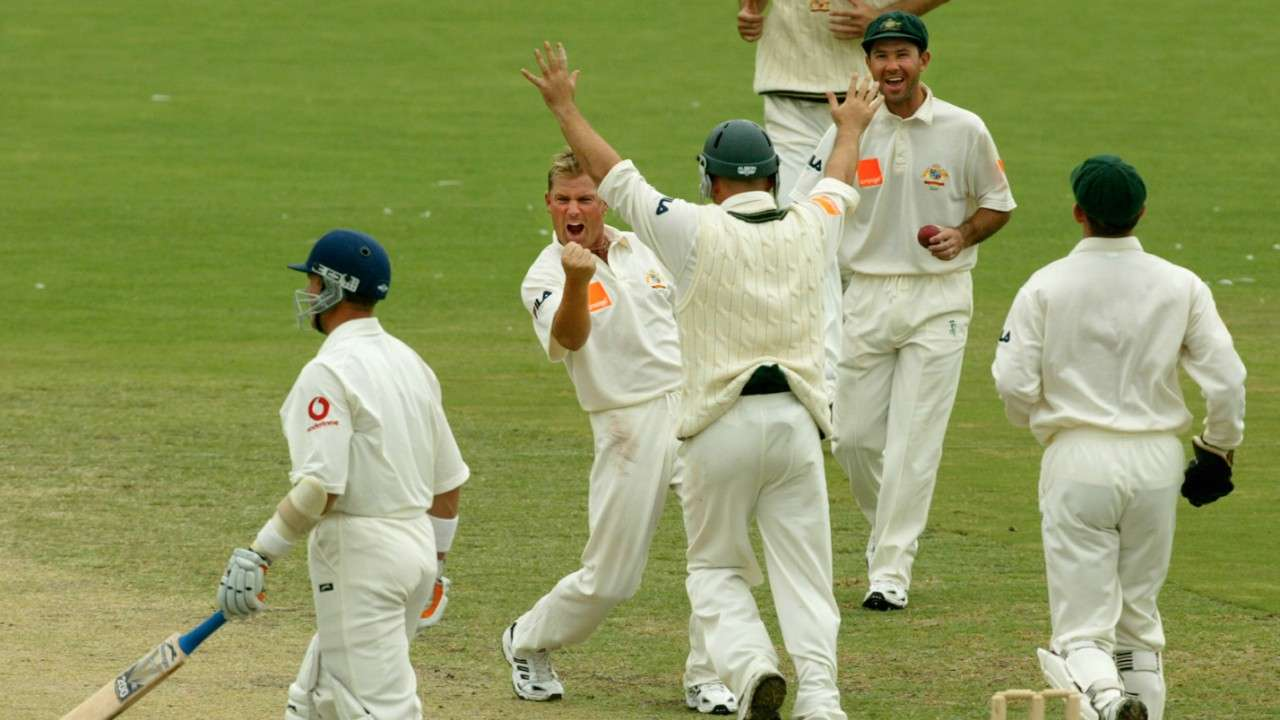 Shane Warne playing for Australia in the Ashes