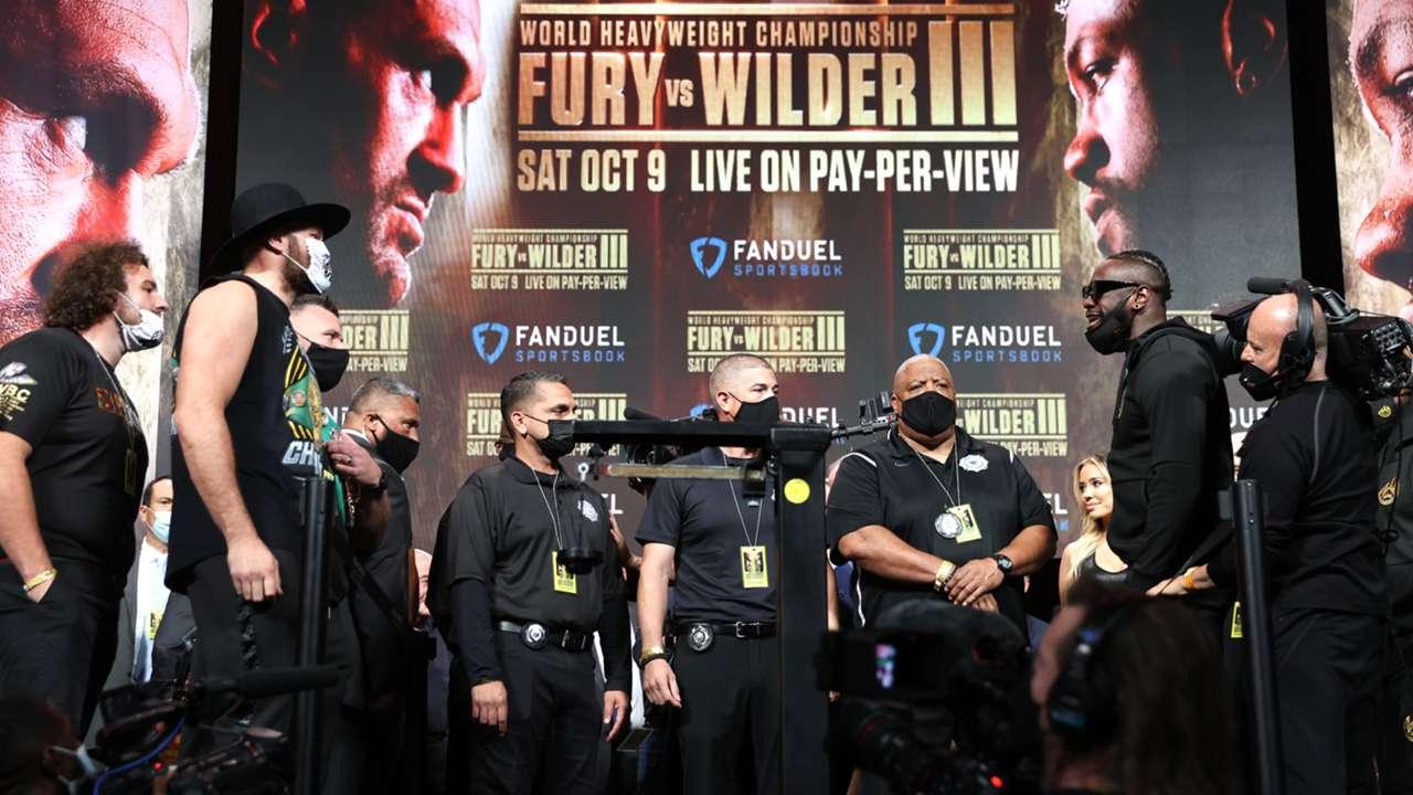 Fury Wilder III weigh-in
