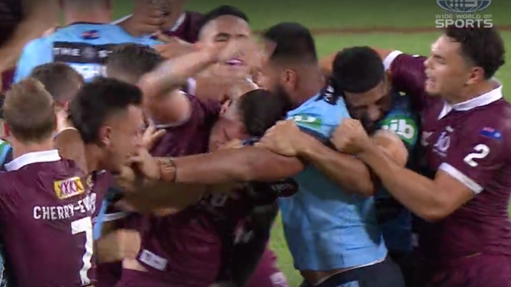 State Of Origin Payne Haas Tino Fa Asuamaleaui Sin Binned For Second Half Fight Sporting News Australia