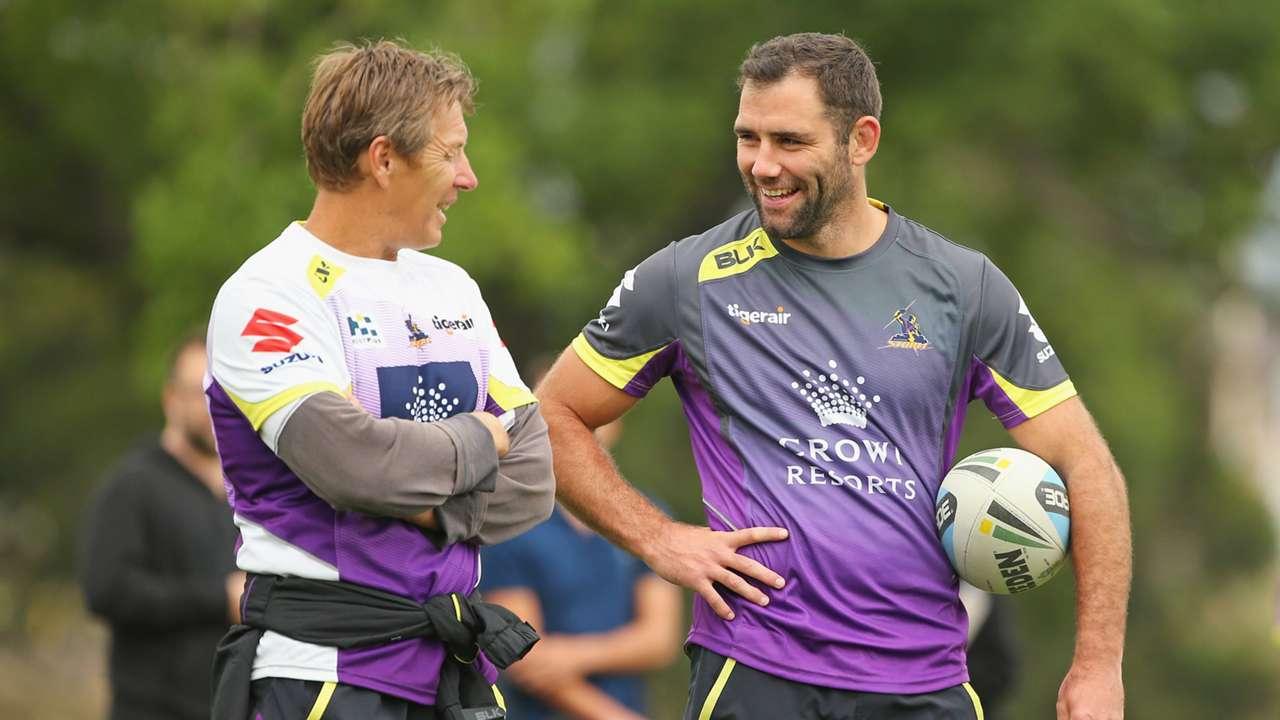 Craig Bellamy and Cameron Smith