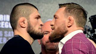 Conor McGregor and Khabib Nurmagomedov get close