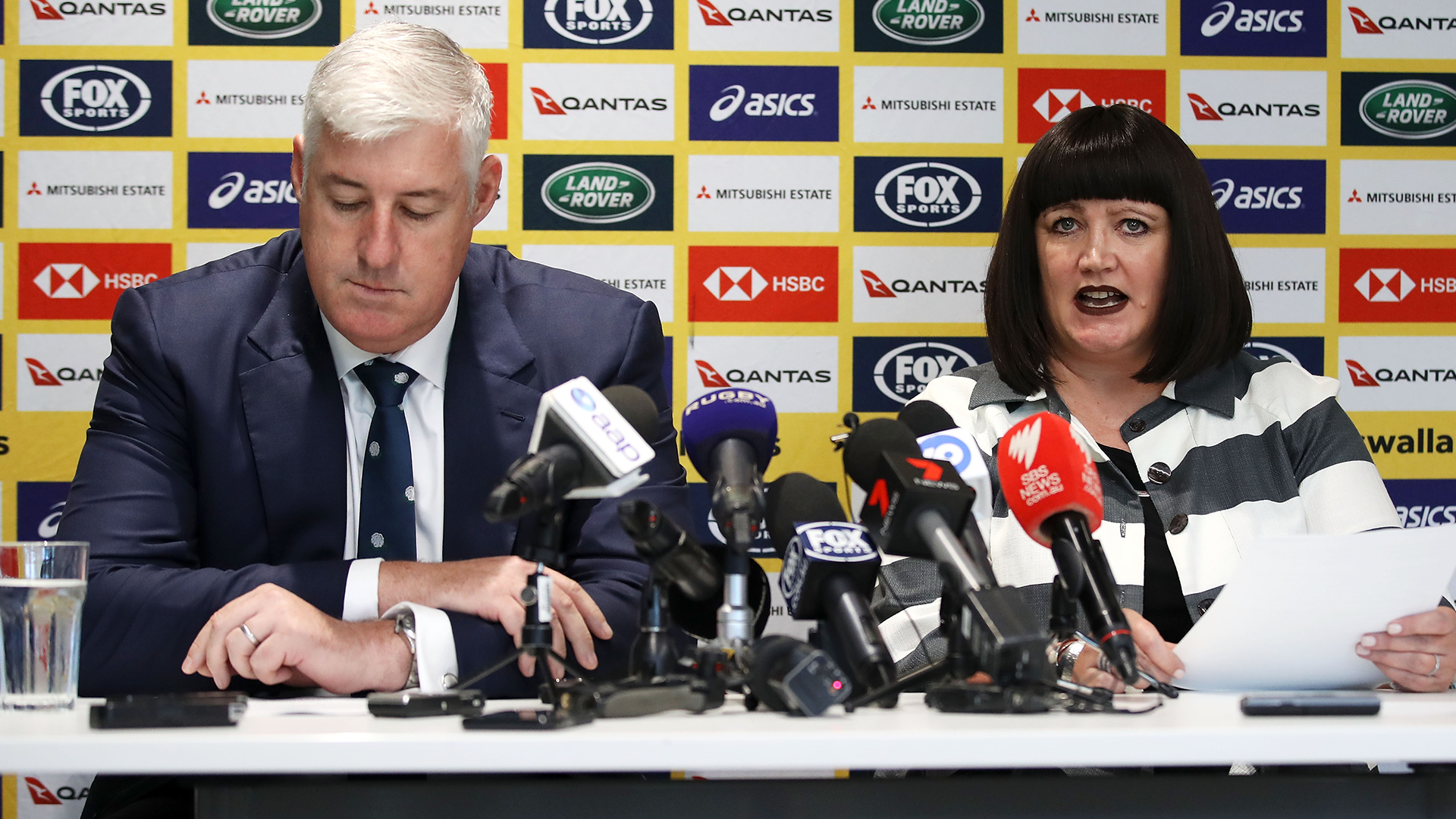 Rugby Australia chairman Cameron Clyne hoses down speculation surrounding Raelene Castle's future