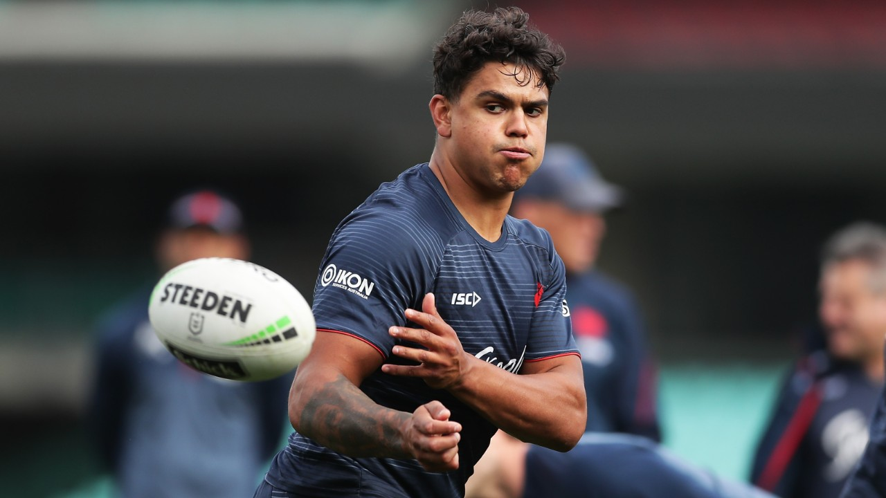 Latrell Mitchell meets with North Queensland Cowboys officials as race for Roosters star heats up