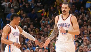 Steven Adams and Russell Westbrook
