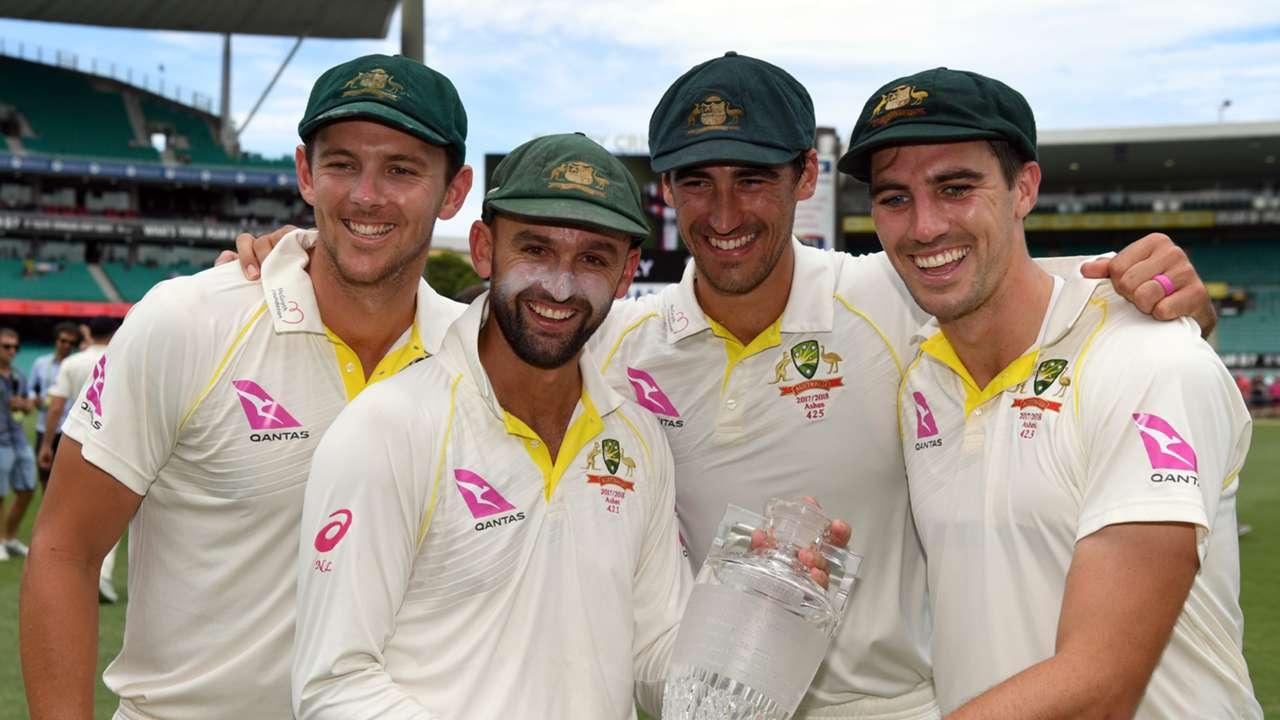 Australia cricket Starc, Cummins, Lyon, Hazlewood