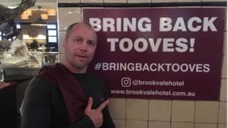 Geoff Toovey Brookvale Hotel sign