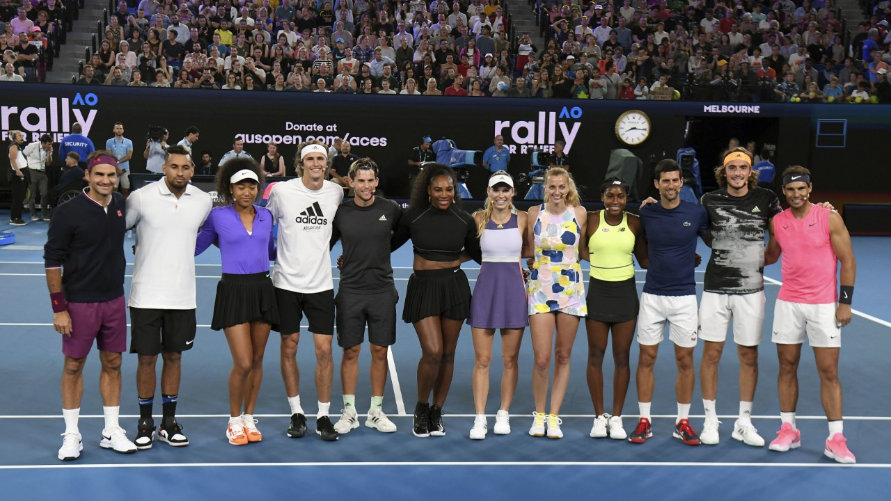 AO Rally For Relief: Over $4 million raised as tennis superstars come together for heart-warming bushfire fundraiser