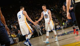 Steph Curry and Andrew Bogut