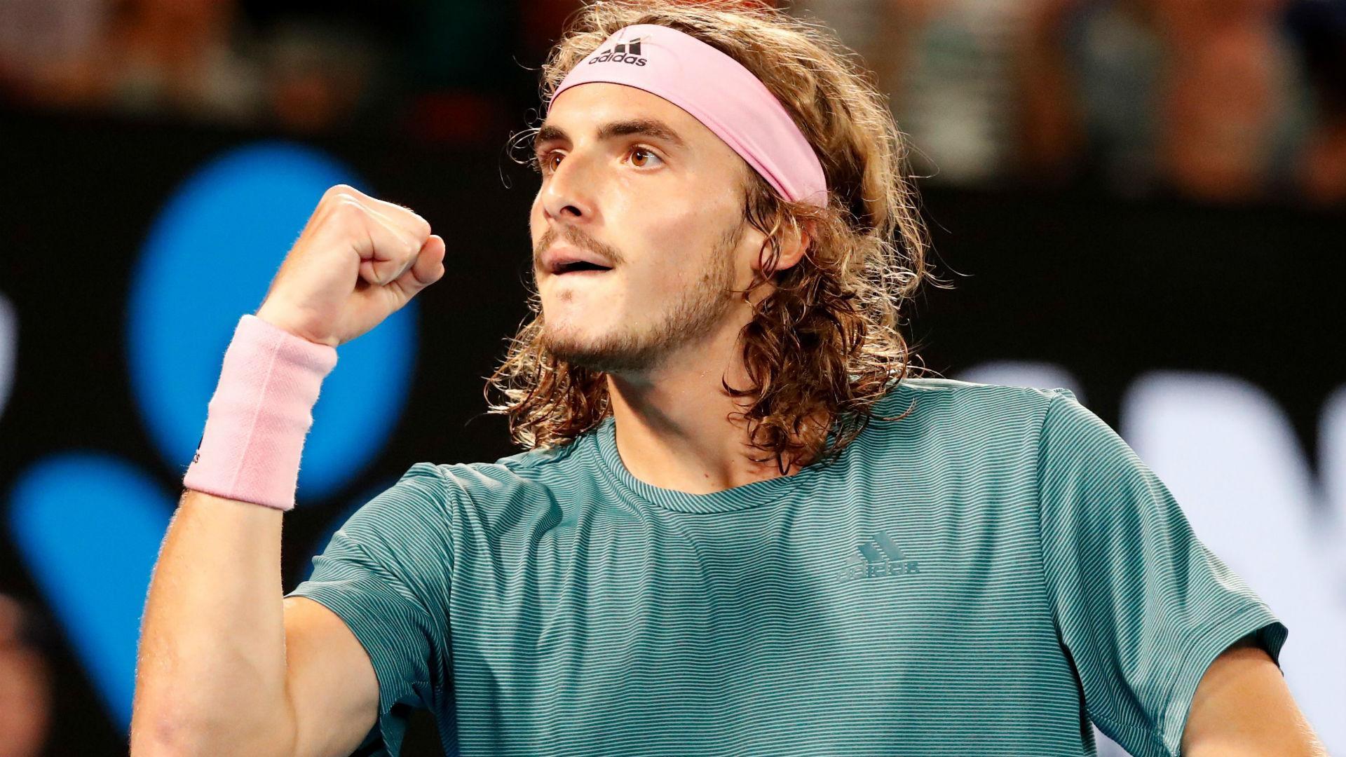 Australian Open Stefanos Tsitsipas Causes Huge Upset Over Roger Federer In Fourth Round Epic Sporting News Australia