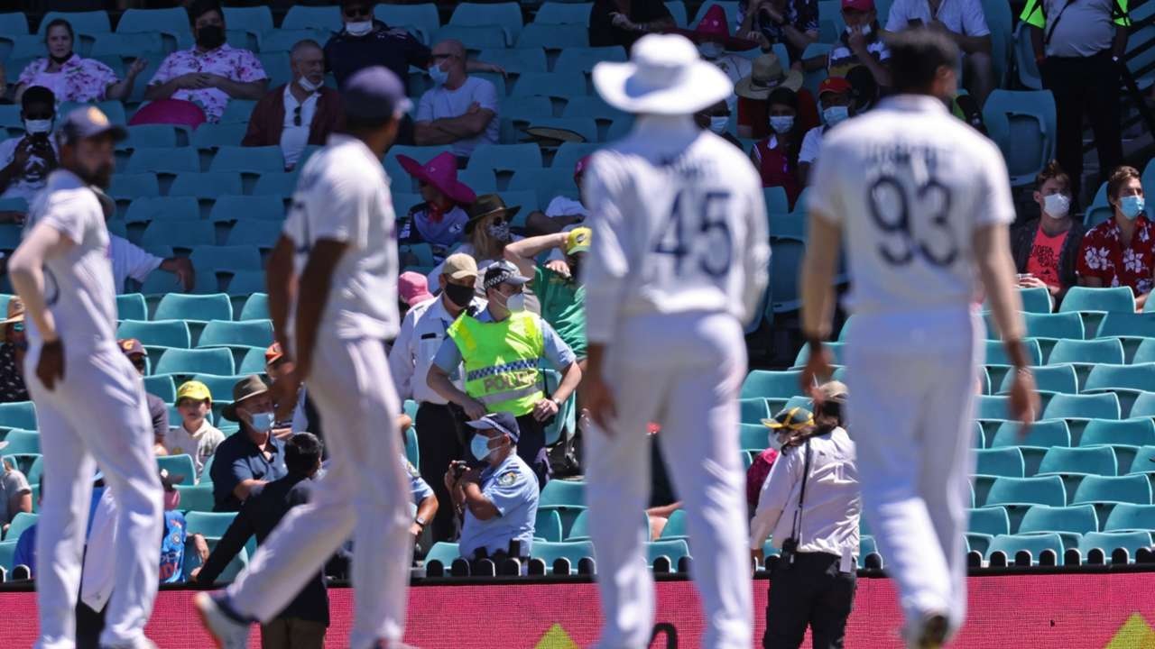 Indian players SCG crowd